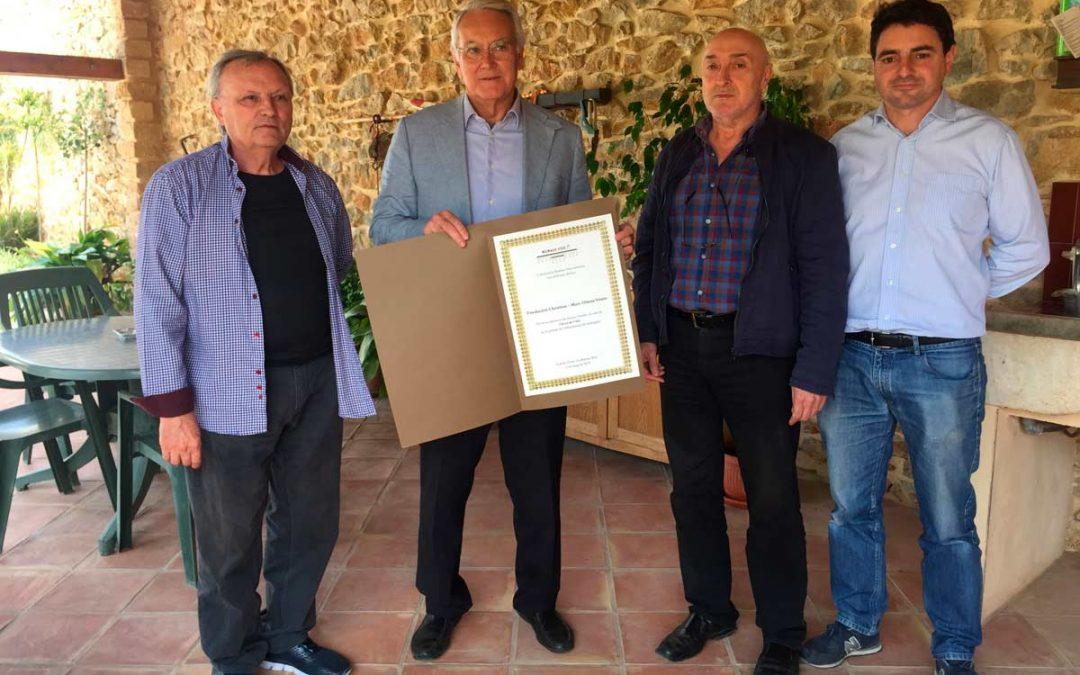 L'hort de L'Alé reconocido como socio de Honor de la asociación Riuraus Vius